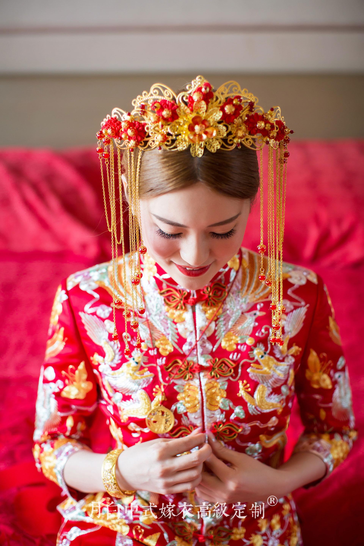 中式吉服/喜服:子孙满堂·凤羽