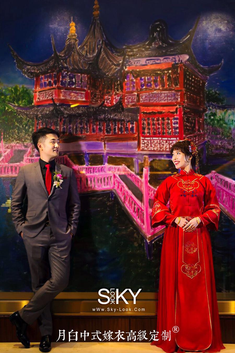 中式吉服/喜服:祥瑞如意·羽鸾