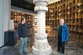 国家文物局文物出版社总编辑葛承雍参观陕西汉唐石刻博物馆